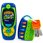 Toysery Cell Phone and Key Toy Set for Kids – Pretend Play Electronic Learning and Education Phone Toys