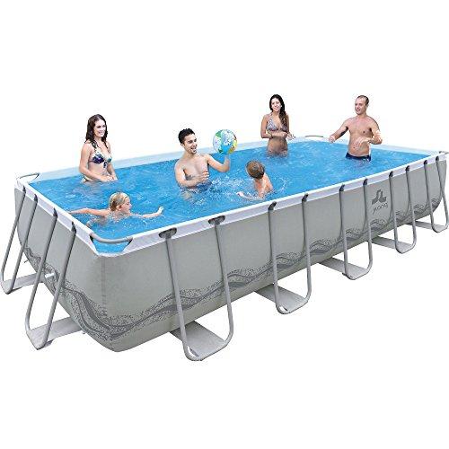 Jilong-6920388626491-Stahlrahmenbecken-Set-rechteckiger-Pool-mit-Filterpumpe-und-Kartusche-Leiter-Boden-Abdeckplane-540-x-274-x-122-cm-passaat-grau