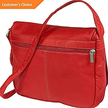 8fdfc2f3532e Amazon.com | Sandover Le Donne Leather Flap Over Shoulder Bag 4 ...