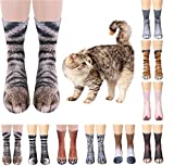 4 Pair Unisex 3D Animal Paw Socks, COSOON Premium Soft Home Socks, Adult Unisex Animal Paw Crew Socks,3D Funny Crazy Novelty Socks (Elephant Paw, Dinosaur Paw, Cat Paw, Dog Paw) H020