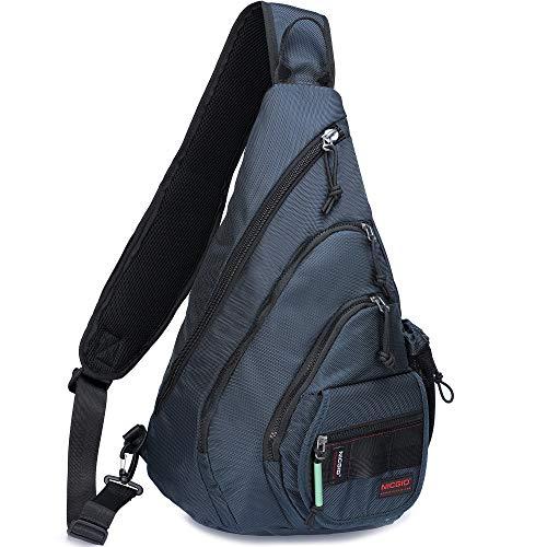 (Sling Bag Backpack, Chest Crossbody Bags Sling Shoulder Backpacks One Strap Multipurpose Daypack Laptops Travel Outdoors Backpack for Men Women Teens (Blue(Fits 14.1-Inch Laptops)))