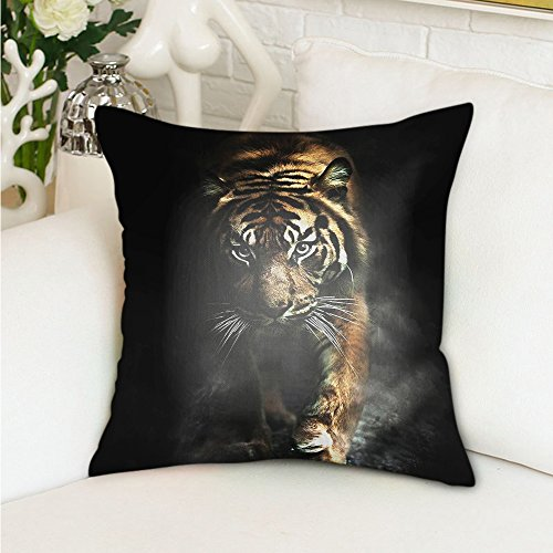 HGOD DESIGNS Wild Animals Tiger Pillowcase Cushion Cover Fashion Home Decorative Sofa Bedroom Pillowcase Gift 18x18 Twin Sides (Animals Wild 100)