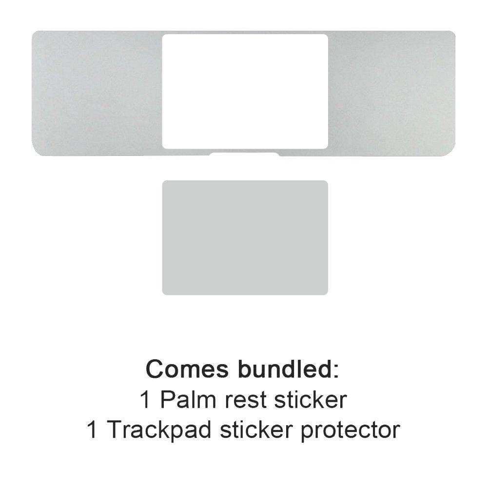 Allinside 15inch Repose-Paume Couverture avec Trackpad Protecteur Autocollant Peau Argent/éE pour Macbook Pro 15.4 avec /éCran R/éTine A1398