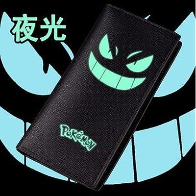 bd7167c4096c Portefeuille Homme Femme Maroquinerie Cuir Porte Monnaie Sac Sacoche Manga  Cosplay Pokemon Go Bag Pikachu Noir Organisateur Des bandes dessinées