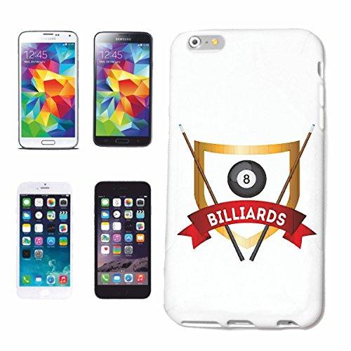 """cas de téléphone iPhone 6+ Plus """"Snoker BILLARD BILLES BILLARD Les Billards Table de billard Table QUEUE"""" Hard Case Cover Téléphone Covers Smart Cover pour Apple iPhone en blanc"""