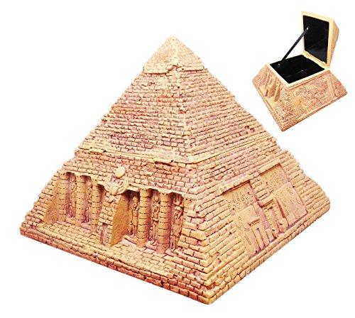 Egyptian Gods Carving Deities Jewelry Box In Sandstone Finish Sculpture (Sandstone Figure)