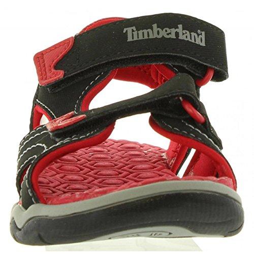 Timberland Spenningshungrig To-stropp Sandal (småbarn / Liten Gutt) Svart / Rød