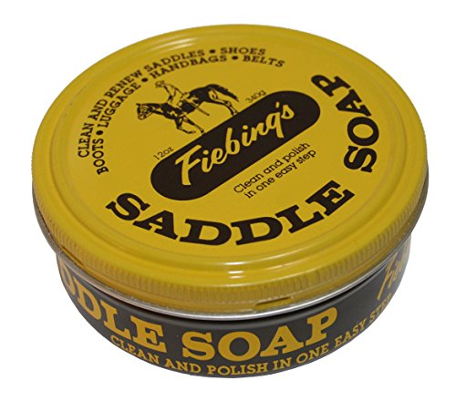 Fiebing's Yellow Saddle Soap, 12 Oz. - Cleans, Softens and Preserves Leather by Fiebing's