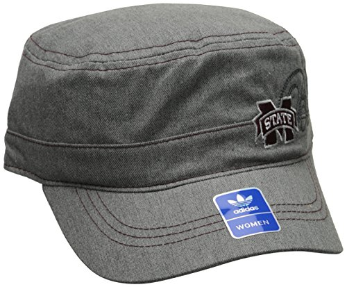 NCAA Mississippi State Bulldogs Women's Military Hat, Grey, One Size by adidas