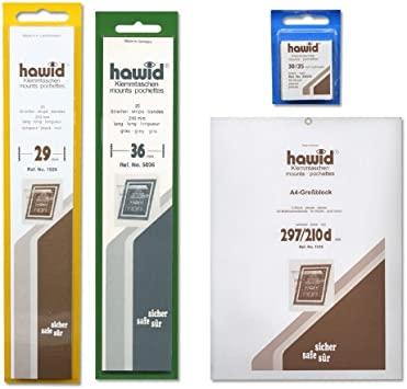 21 x 24mm Clear 50 per pack Hawid Stamp Mounts