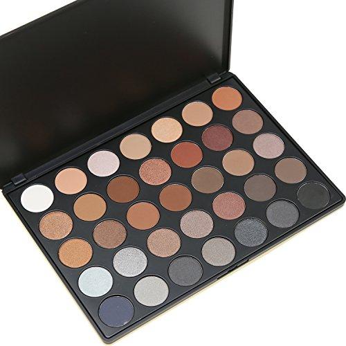 Preup 35 color nature glow eyeshadow Make up Waterproof palette-Neutrals Warm Smooth Eye Shadows