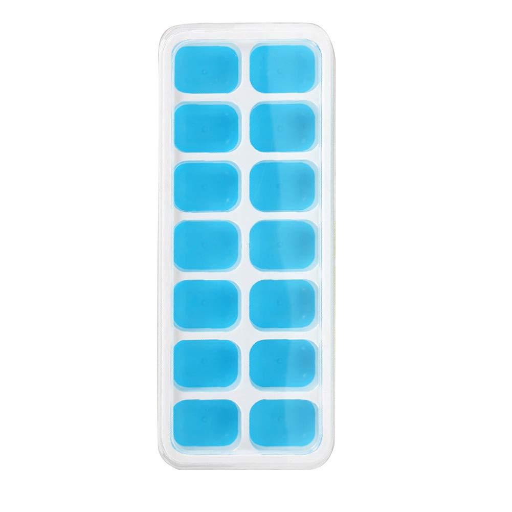 Puddings /écologique Silicium Glace Cube Tray Moisissures pour Whisky Jus de Fruits Bleu annotebestus 2 Pack Bac a Glacons 14 Grilles Rectangle/Gla/çon Fabrication Moule Cocktails