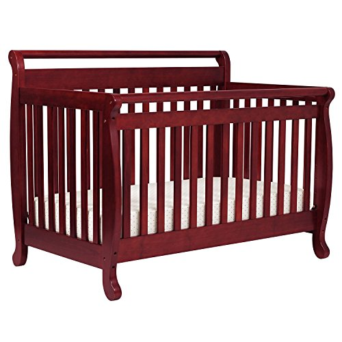 DaVinci Emily 4-in-1 Convertible Crib with Toddler Rail - Cherry (Da Vinci Cherry Convertible Crib)