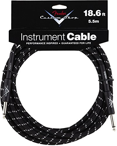 Fender Custom Shop Performance Series Cable (Straight-Straight Angle) for electric guitar, bass guitar, electric mandolin, pro - Shops Tweed