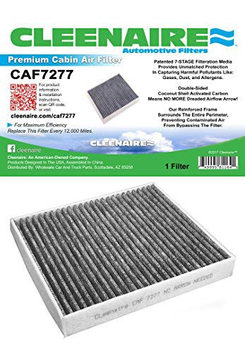 Cleenaire CAF7277 The Most Advanced Protection Against Dust, Smog, Gases, Odors and Allergens, Cabin Air Filter for Infiniti, Town And Country, Grand Caravan