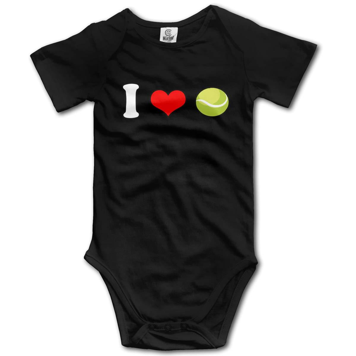 Toddler I Love Tennis Short Sleeve Climbing Clothes Bodysuits Jumpsuit Suit 6-24 Months