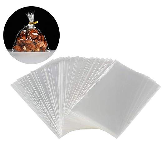 XUMIN 100PCS 1.2MIL Bolsas de empaque transparentes planas ...