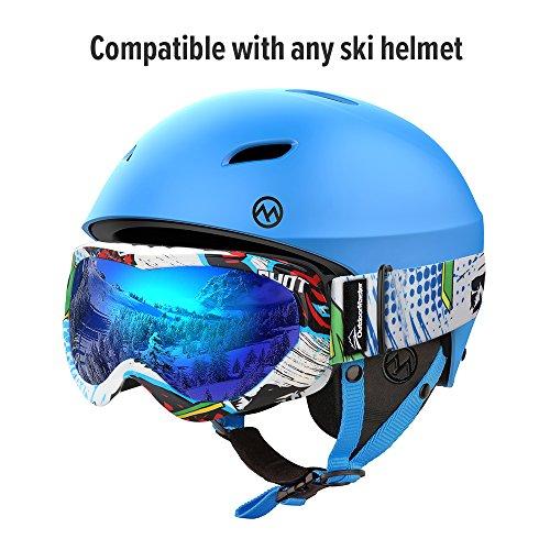 c1845bd109e OutdoorMaster Kids Ski Goggles – Helmet Compatible Snow Goggles Boys ...