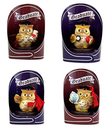 (Graduation Keepsake Wise Owl Charm Figurines, Set of 4, 2 Inch)