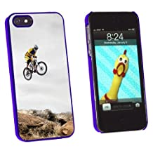Graphics and More Mountain Bike Biking - Snap-On Hard Protective Case for Apple iPhone 5/5s - Non-Retail Packaging - Blue
