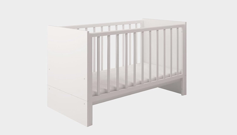 Polini Kids Babybett Kombi-Kinderbett Classic 140 x 70cm weiß, 1239.26