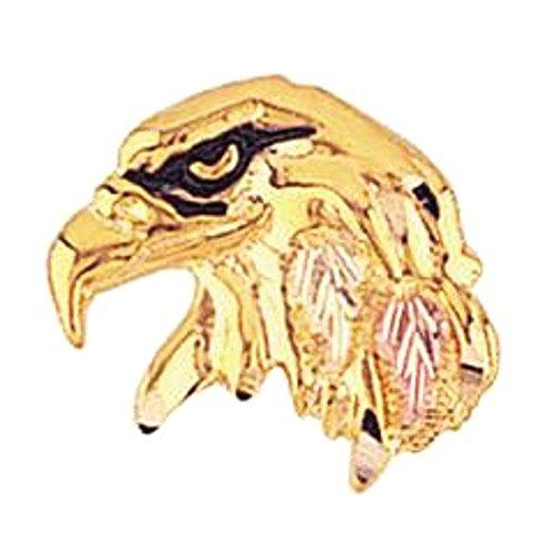 (Black Hills Gold Eagle Head Tie Tack)