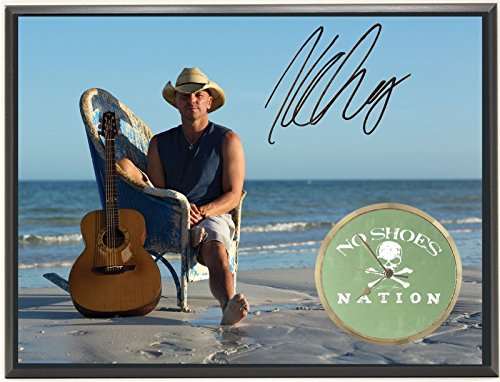 KENNY CHESNEY LTD EDITION SIGNATURE SERIES ART FACE CLOCK DISPLAY J0