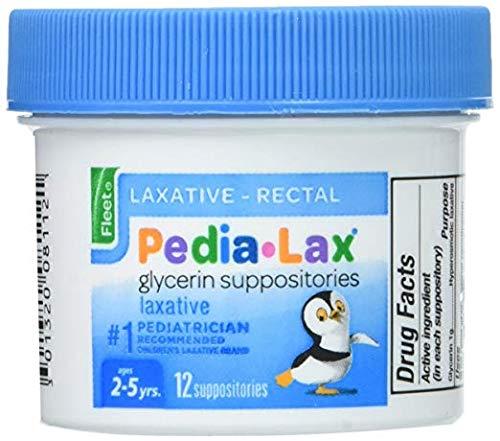 Fleet Laxative Pedia Lax - Fleet Pedia-Lax Glycerin Suppositories 12 Each - Pack of 2