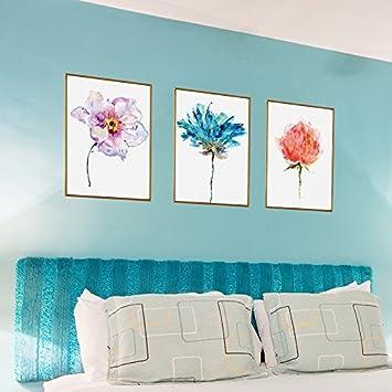 Smncnl Personalisierte Creative Kopfteil Tapetensticker Poster Sofa  Wandmalereien Blumen Papier Blume Abstrakt Wasser
