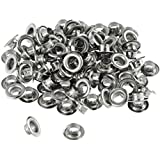 """100pc 1/4"""" Grommets Eyelets for Clothes, Leather, Canvas - Self-Backing"""