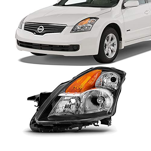 Left Door Headlight - For 07-09 Altima 4 Doors Sedan Halogen Type Driver Left Side Headlight Front Lamp Direct Replacement