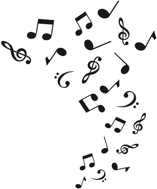 Meaosy Notas Musicales Etiqueta De La Pared Arte Murales De Vinilo ...