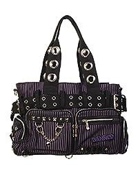 Banned Handcuff Handbag - Black/Purple / One Size
