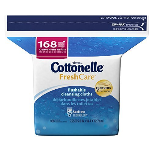 Cottonelle Fresh Care Flushable Cleansing Cloths Refill, 168 Cloths (Pack of 8) by Cottonelle by Cottonelle