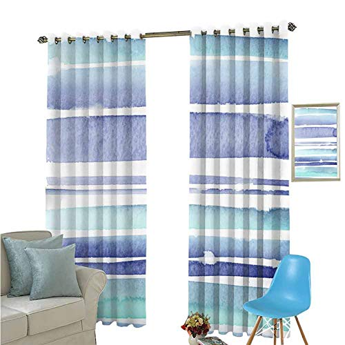 YSING Blackout Curtains,All Over Pattern Vector Files Stripe Stripe Art Elements Oil Painting,Thermal Insulating Blackout Curtain,W63 x L72 Inch (Best Laser Level For Painting Stripes)