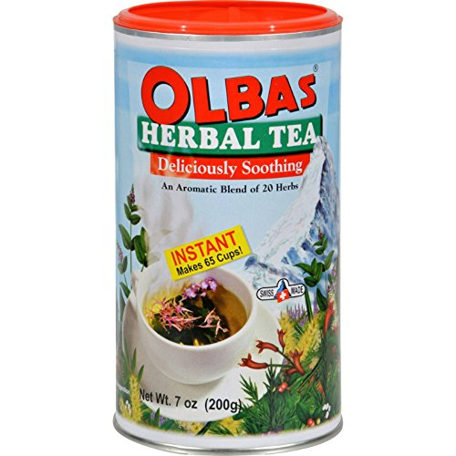 Olbas Herbal Remedies (Olbas Instant Herbal Tea - 7 oz - An Aromatic Blend of 20 Herbs - Provides a delightfully warm soothing feeling anytime - Suitable for adults and children)