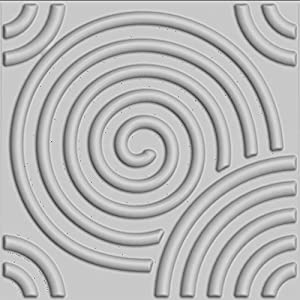 Upscale Designs 02104 27 sq. ft. 3D Glue-On Wall/Ceiling/Wainscoting Panels, Circles