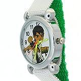 Ben 10 Alien Force Pattern Kids Chirdren Student Green Nylon Velcro Strap Analog Quartz Watches