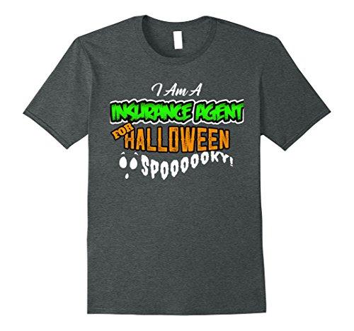 Insurance Agent Costume (Mens Insurance Agent Funny DIY Cheap Halloween Costume Supplies Medium Dark Heather)