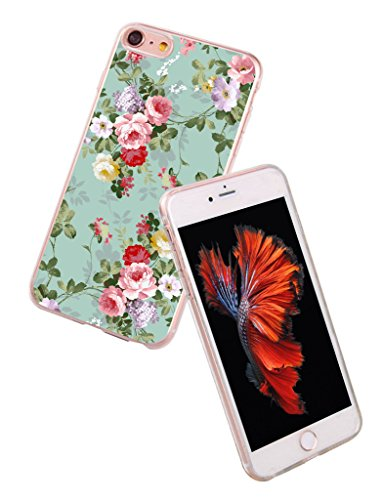 Case-for-Iphone-7-Plus-flower-print-MURQ-Apple-Iphone-7-Plus-Cover-protective-slim-rubber-fashion-silicone-fashion-girl
