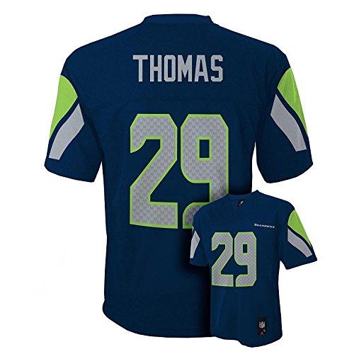 Earl Thomas III Seattle Seahawks Navy Blue NFL Youth 2016-17 Season Home Mid Tier Jersey (Large 14-16)