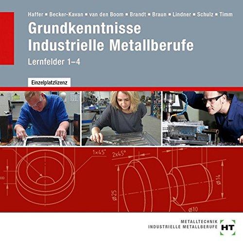 Grundkenntnisse Industrielle Metallberufe: Lernfelder 1-4 (Braun Handwerk)