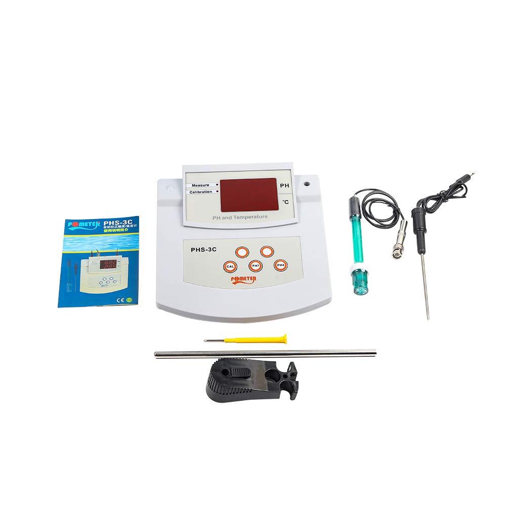 acquacoltura laboratorio TOPQSC PH metro da laboratorio digitale pH tester di qualit/à dellacqua 0.01 PH precisione automatica calibrazione a due punti misuratore di acidit/à da banco per piscina