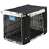 Crate Covers and More Double Door 30 Pet Crate Cover, Black Twill with Parisian Black
