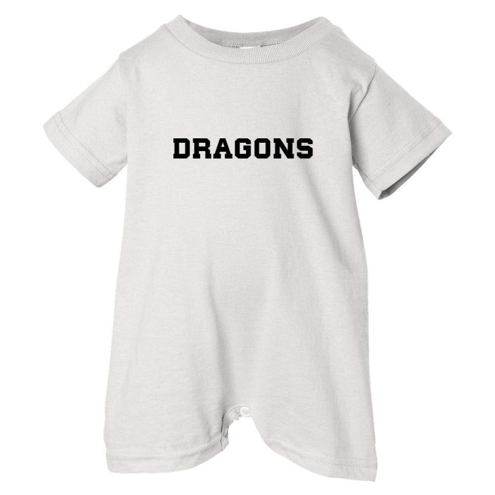 Mashed Clothing Unisex Baby Dragons Black Print T-Shirt Romper