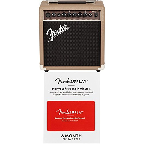 Fender Acoustasonic 15 – 15 Watt Acoustic Guitar Amplifier with 6 months of Fender Play by
