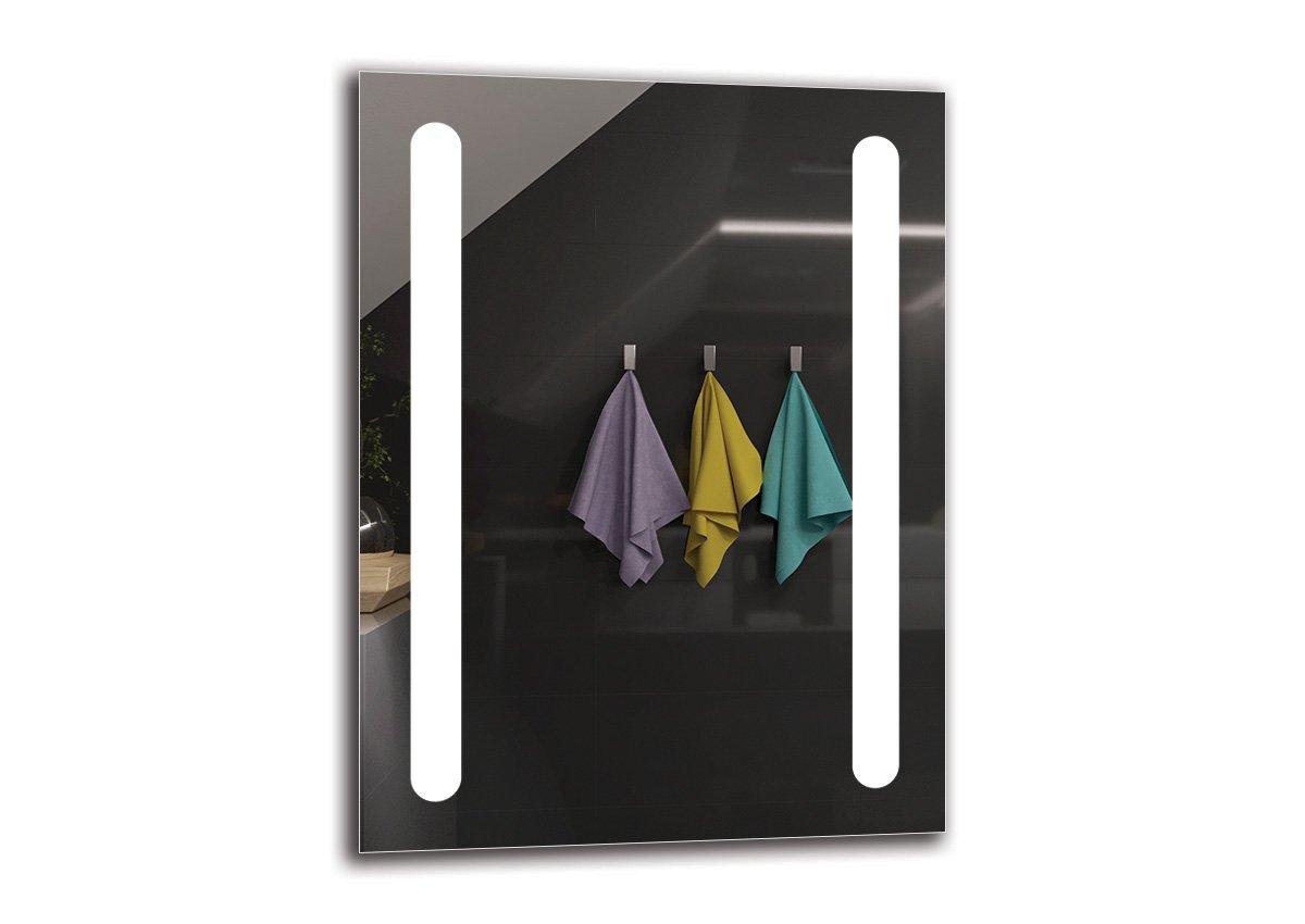 LED Spiegel Premium - Spiegelmaßen 60x80 cm - Badspiegel mit LED Beleuchtung - Wandspiegel - Lichtspiegel - Fertig zum Aufhängen - ARTTOR M1ZP-11-60x80 - Lichtfarbe Weiß kalt 6500K - ARTTOR