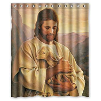 Amazon 60x72 Inches Elegance Bible Story Love Jesus Shower