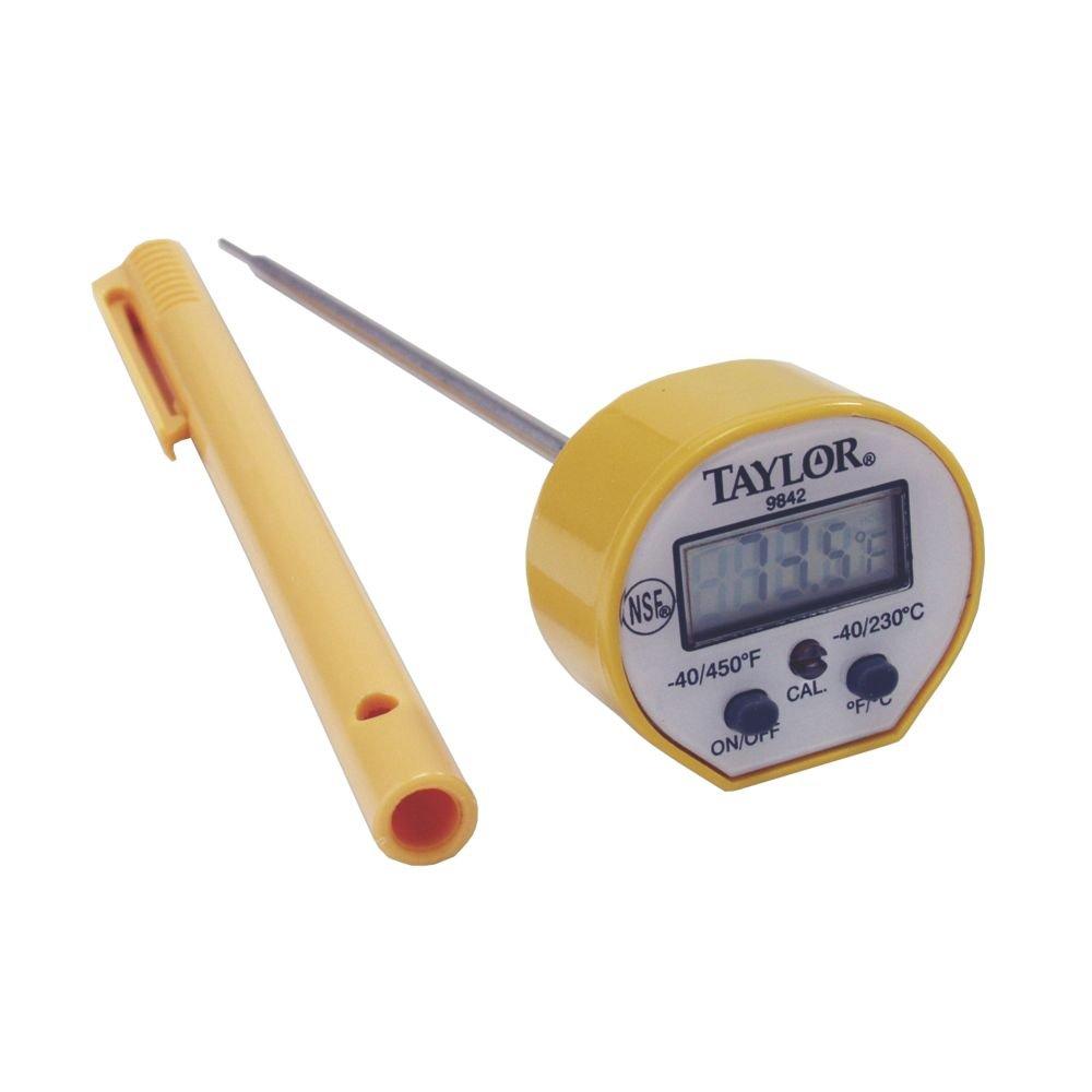 Taylor 9842FDA 5 Waterproof Digital Pocket Probe Thermometer, 1.5mm Diameter Probe COLE-PARMER