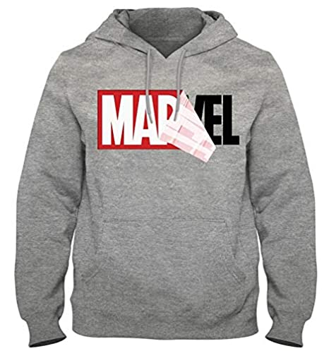 Homme Marvel Logo Distress Zip Hood Sweat Shirt à Capuche